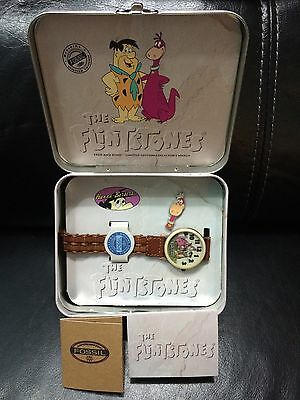 1993 Fossil The Flintstones Fred And Dino Limited Edition Collectors Watch