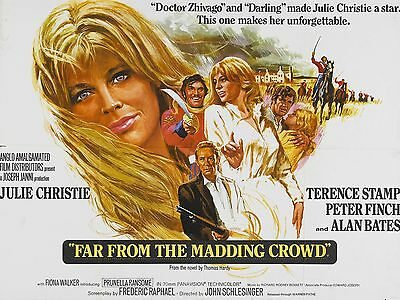 """Far from the madding crowd 16"""" x 12"""" Reproduction Movie Poster Photograph"""