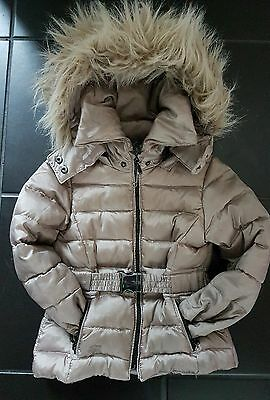 Zara girls winter jacket with fur hood size 3-4
