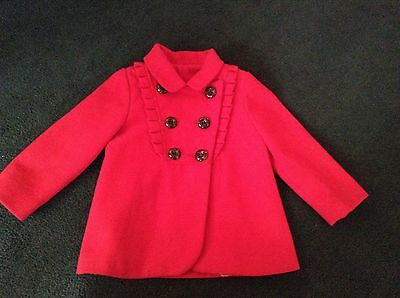 Mothercare Child Red Smart Winter Coat/jacket -Size 24/36 Months - 2/3 Years