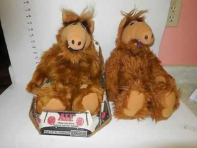Alf Plush Doll Coleco 1986 With Box Plus One With Out The Box
