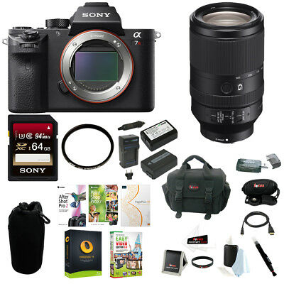 Sony a7R II Full-Frame Mirrorless w/ Sony FE 70-300mm G OSS Lens + 64GB Acc Kit