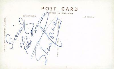 ACTOR Signed Vintage c1940's Postcard FELIX BOWNESS & STEVE CONWAY