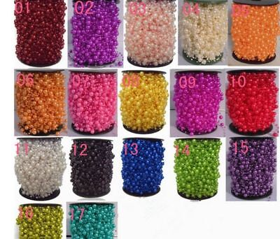 Artificial Pearls Beads Chain Garland Flowers Wedding Party Decoration WCA053
