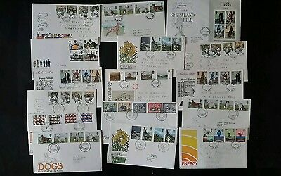 GB stamps - 1979 First Day Covers x 16