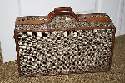 Vintage Hartmann Luggage Carry On, Tweed With Leather 21""