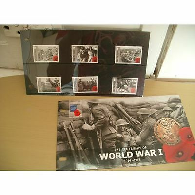 Isle of Man 2014 MNH Stories from Great War WWI 6v Set First World War Soldiers
