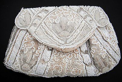 Vintage beaded evening bag with strap for a hand Fully lined