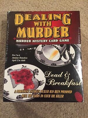 NEW Dealing With Murder Sealed Mystery RPG Board Game