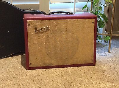 1960s Supro Valco Term-O-Verb 1x10 Combo Factory Red Rare And Super Cool