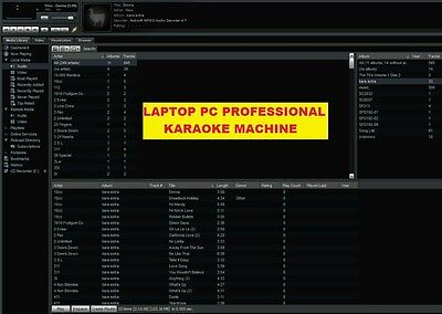 Laptop Pc Professional Karaoke Machine System For Clubs Pubs 1500  Songs