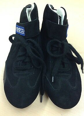 SPARCO BLACK RACING SHOES * DRIVING SHOE SIZE 40 (Italy)