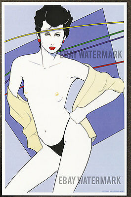 1980s Patrick Nagel Authentic Pin-Up Poster Art Print 11x17