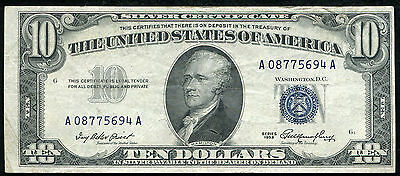 Fr. 1706 1953 $10 Ten Dollars Blue Seal Silver Certificate Currency Note