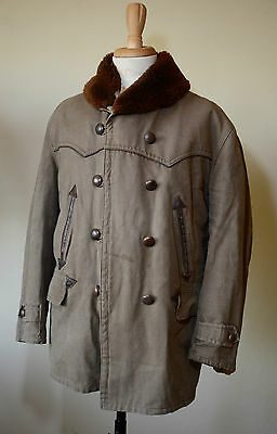 VTG 1950s French Canvas Barnstormer Coat Work Jacket Workwear Chore Mackinaw