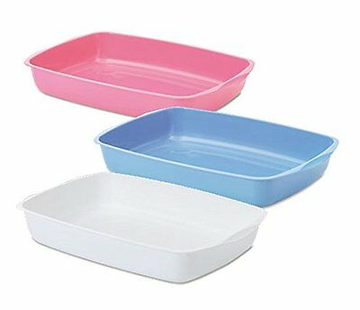 Savic Cat Kitten Litter Trays 37cm Assorted Pink blue OR white Easy Clean NEW UK