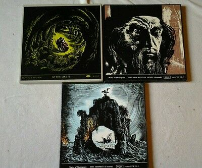 works of shakespeare vinyl rare record box sets x 3