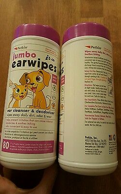 Jumbo ear wipes for cats & dogs