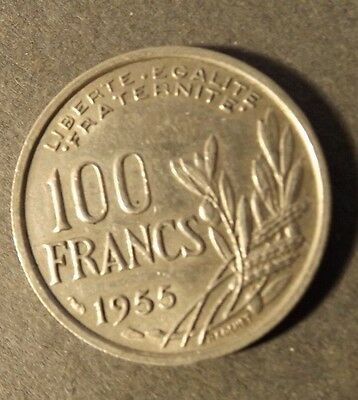 France 100 Franc Coin Dated 1955 Nice Coin