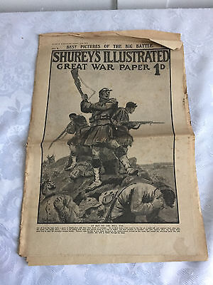 Two Shurey`s Illustrated Great War Paper 1D 2 parts October 10th / 31st 1914