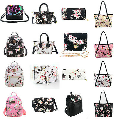 Women Handbag Shoulder Bag Messenger Hobo Bag Satchel Purse Tote Flower Print