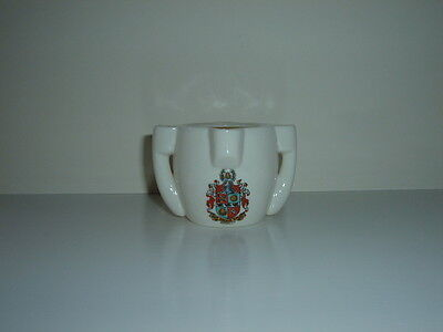 Vintage Goss Crested Bromley China Model Of Stone Vessel From Dover Castle