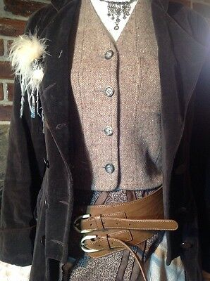 Victorian Steampunk Outfit Costume - Size 8 Upcycled