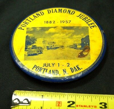 Vintage 1950s Portland Diamond Jubilee 1957 North Dakota Souvenir