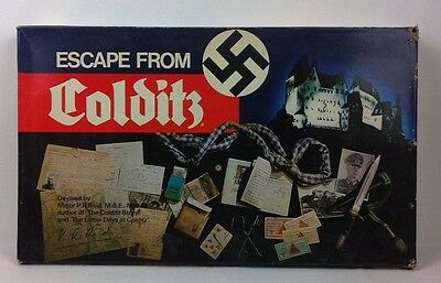 Escape From Colditz Board Game HP Gibson Complete Contents