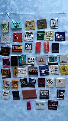 45 Vintage matchbooks and boxes.