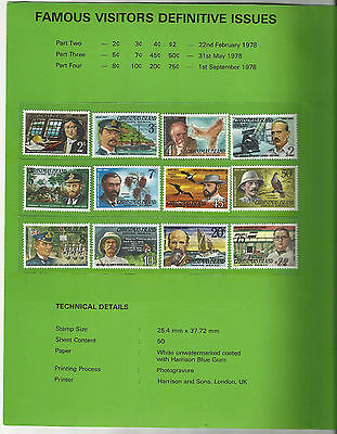 Christmas Island - 1978 Stamp Issues (3 sets) In Special Presentation Folder