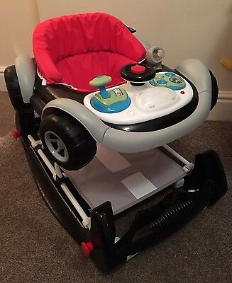 2in1 Racing Car F1 Style Walker/ Rocker With Musical Activity Toy