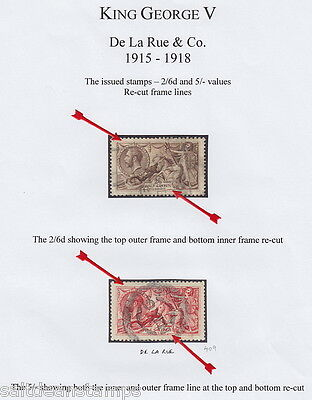 "GREAT BRITAIN - 1915 2s6d and 5s ""Seahorses"" Specialised Collection - Used"