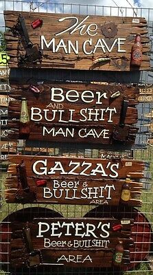 Man Cave Sign, Bar Sign, Husband Gift, Male Present, Personalised Gifts