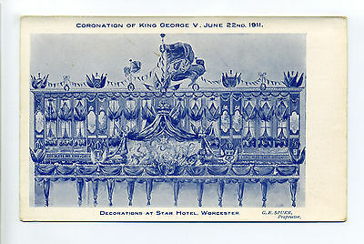 England, Coronation King George V, Decorations at Star Hotel, Worcester, early