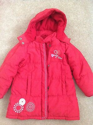 Lovely girls red winter coat, Rocha, John Rocha, age 4 years.