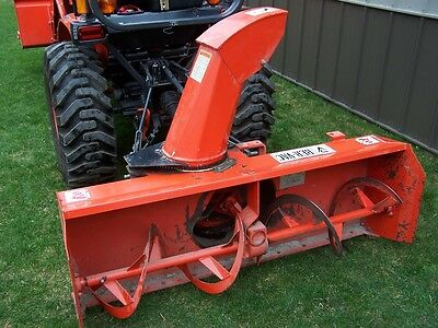 """Ber-Vac Tractor rear PTO 60"""" 3pt 3 point Snow Blower Shoes Electric Chute Rotate"""