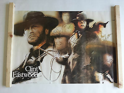 Clint Eastwood Poster Large Vintage 1977 Pace Minerva 101681 Was Unopened