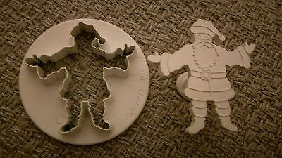 PME Embossed Father Christmas Santa Plunger Cutter