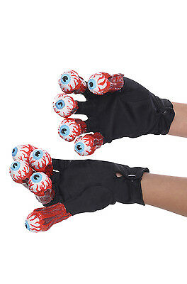 Brand New Beetlejuice Gloves with Eyes Costume Accessory