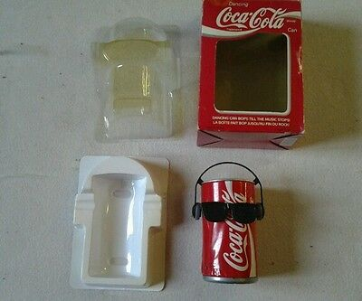 dancing coca cola can in box 1990