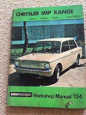 Chrysler IMP Range  from 1963 Workshop Manual