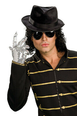 Brand New Michael Jackson Silver Sequined Child Costume Glove Accessory