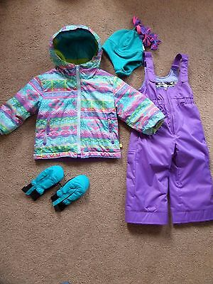 FABULOUS Girls COMPLETE WINTER SET by Obermeyer Age 3 From USA Jacket Salopettes