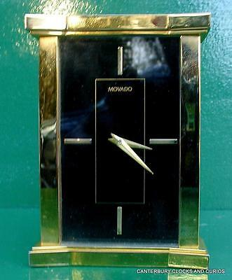 Movado Art-Deco Quartz Solid Brass Carraige Clock