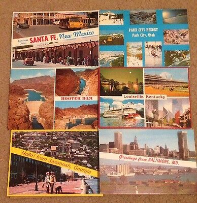 Large lot of 1000 All US Vintage Color  Chrome Postcards Towns Views Locations