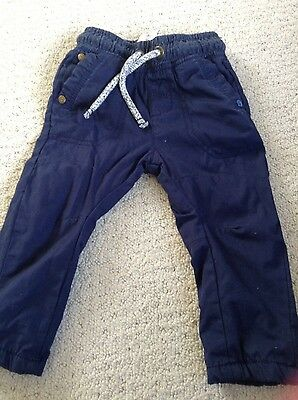 Boys Next Blue Trousers age 6-9 months