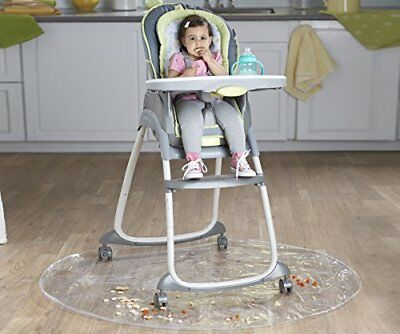 Nuby Floor Mat, Plastic, High Chair Floor Protector, Clear, Multi-Purpose,