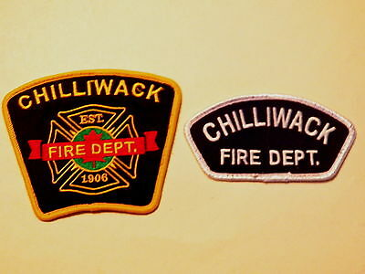 Chilliwack (BC,Canada) Fire Department Patches - Set of 2