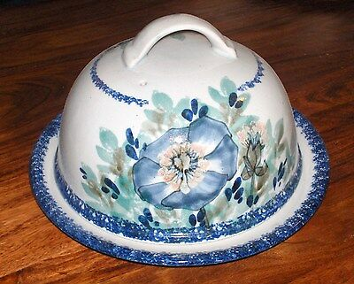 Stunning Highland Stoneware Domed Platter Excellent Condition Cheese Bell Large